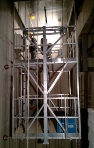 产品中心 模块化吊篮 电梯安装平台  电梯安装平台-双层包含两套电动